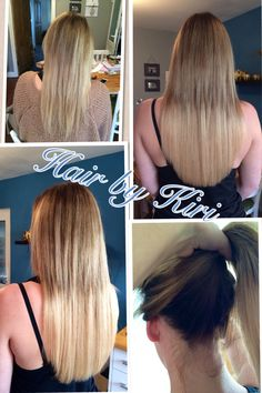 Dip dye hair extensions before and after