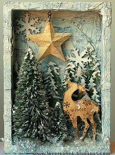 beautiful shadowbox for the Christmas holidays.
