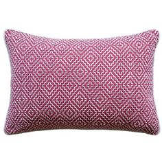 Ryan Studio Soho Weave Pillow in Raspberry ($170) ❤ liked on Polyvore featuring home, home decor, throw pillows and woven throw pillows