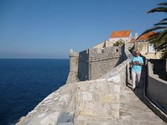 Continuing down the Dubrovnik wall and that beautiful sea view.