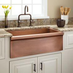 """30"""" Bria Copper Farmhouse Sink"""