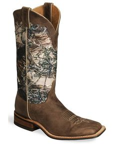 Camo Boots For Women | Justin Bent Rail Camo Cowboy Boots - Square Toe - Sheplers
