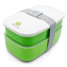 Bentgo All-in-One Stackable Lunch/Bento Box, Green Lunch boxes for men Lunch Boxes For Men, Lunch Box Containers, Storage Containers, Plastic Silverware, Boite A Lunch, Portable Food, Bento Box Lunch, Bento Lunchbox, Bento Food