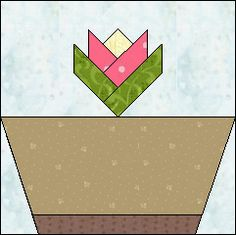 Block of Day for January 15, 2016 - Buttercup Basket-foundation piecing --The pattern may be downloaded until: Sunday, January 31, 2016.