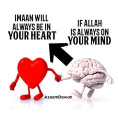 Imaan will always be in your heart. If Allah is always on your mind,