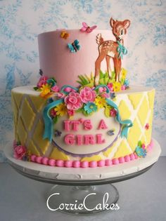 How cute is this retro Bambi cake!