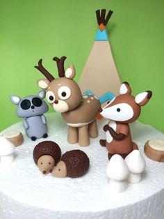Woodland animals baby shower / birthday by SugarDecorByLetty