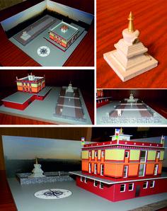 Model of stupa in Krasnoyarsk