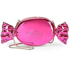 Kate Spade New York Do Wonders Candy Clutch (4.825 ARS) ❤ liked on Polyvore featuring bags, handbags, clutches, purses, accessories, pink, chain handbags, pink hand bags, man bag and handbag purse