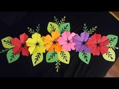 How to make 5 petal hand cut paper flowers - origami flower DIY Paper Origami Flowers, Paper Flowers Craft, Giant Paper Flowers, Flower Crafts, Diy Flowers, Paper Crafts, Flower Diy, Hibiscus Flowers, Flower Garlands