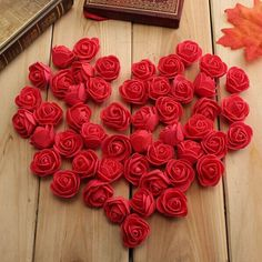 50pcs 2.5 cm rose artificiali pe schiuma rosa fiore matrimonio partito…