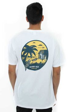 Benny Gold, Destination T-Shirt - White - Benny Gold - MLTD