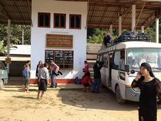 Laos, Muang Ngoi Neua, Bus station