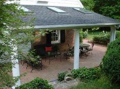 Covered Patio Ideas for Backyard Diy Pergola Kits, Cheap Pergola, Pergola With Roof, Patio Roof, Pergola Patio, Pergola Plans, Backyard Patio, Pergola Shade, Patio Plans