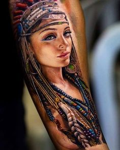 индианка #tattoosmensarms