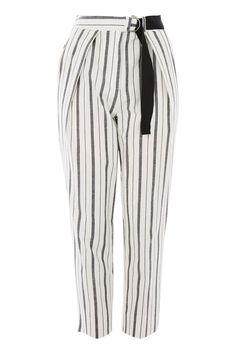 PETITE Stripe Peg Leg Trousers