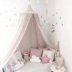 Baby Room Decoration Home Bed Curtain Round Crib Netting Baby Tent Cotton Hung Dome Baby Mosquito Net Photography Props - PINkart.