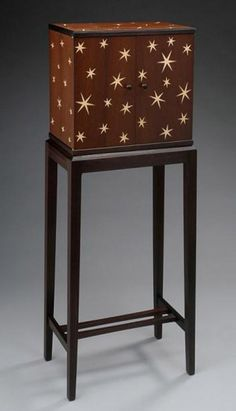 TIM COLEMAN  Heaven and Earth Cabinet  English brown oak, English sycamore, roasted ash.