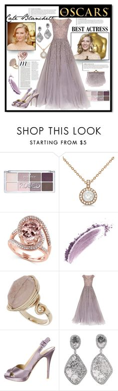 """Oscar"" by andrea2andare ❤ liked on Polyvore featuring Allurez, Effy Jewelry, NARS Cosmetics, Topshop, Georges Hobeika, Valentino, Anja, Touch Ups, polyvoreeditorial and oscarfashion"