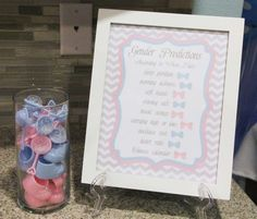 Cute decoration and interesting lil read Little Man or Little Lady | CatchMyParty.com