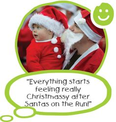 Join our festive fun run today! Santa Claus is coming to town!  It's almost that time of year again where hundreds of Santas take part in sponsored festive fun runs across the South West. Hundreds of adults and children (and sometimes their pets!) dressed as Santa take to the streets, parks and even air bases in our seasonal fun runs. #CHSW #Santasontherun #SantasBristol #SantasStAustell #SantasTaunton #SantasBideford #SantasLaunceston