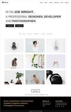 Curious is a minimal design 4in1 responsive HTML #template for #designer, developer or #photography agencies portfolio showcase website download now➩ https://themeforest.net/item/curious-minimal-portfolio-template/19460578?ref=Datasata
