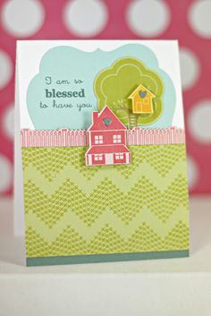 Blessed To Have You Card by Erin Lincoln for Papertrey Ink (September 2013)