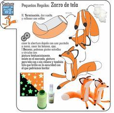 Fox Pattern, Plush Pattern, Little Prince Fox, Sewing Stuffed Animals, Animal Sewing Patterns, Sock Toys, Fun Diy Crafts, Sewing Toys, Diy Toys