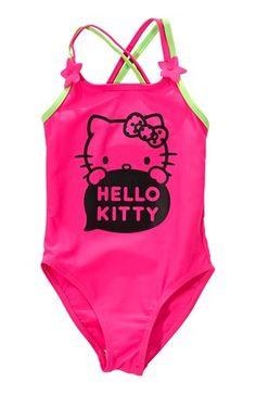 Lækre Hello Kitty Badedragt Cerise Grøn Hello Kitty Hello Kitty til Børn & teenager til hverdag og til fest