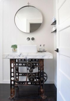 12 Awesome Industrial Bathroom Decor Designs That You Can Create For Your Urban Getaway bathroom design vintage industrial 13 Vintage Industrial Furniture, Industrial Interiors, Industrial Chic, Industrial Restaurant, Industrial Living, Industrial Bookshelf, Industrial Farmhouse, Industrial Decorating, Industrial Windows