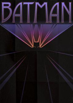 Art Deco Style Poster for Batman