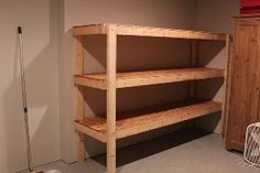easy storage idea, shelving ideas, storage ideas, woodworking projects, This is how the shelving unit looks when completed