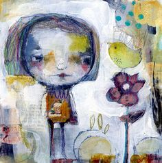 Found  original painting on paper by Mindy Lacefield by timssally, $59.00