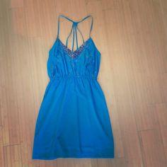 Blue Summer Dress from Urban Outfitters Cobalt Blue Summer Dress with a beautiful sequins pattern. New with tags from Urban Outfitters. Urban Outfitters Dresses