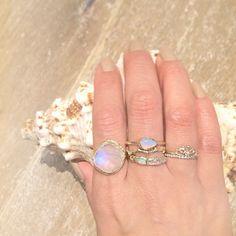 Misa Jewelry in Hawaii ~ Moonstone Cove Ring, Compass Opal Ring, Limu Eternity Ring, Journey Treasure Mermaid Ring, Sunrise Ring, Horizon Diamond Ring