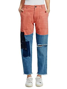 How to Sew an easy pair of knit pants DIY Denim Cargo Pants, Cargo Pants Women, Jeans Pants, Pants For Women, Trousers, Custom Clothes, Diy Clothes, Denim Fashion, Womens Fashion