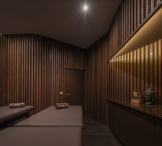 Image 1 of 38 from gallery of Physiotherapy Clinic / Hinterland Architecture Studio. Photograph by Ivo Tavares Studio Clinic Interior Design, Clinic Design, Gym Design, White Rooms, White Walls, Hospital Architecture, Medical, Treatment Rooms, Interiores Design