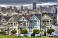 "Painted Ladies or ""The Seven Sisters"", Steiner Street, San Francisco"