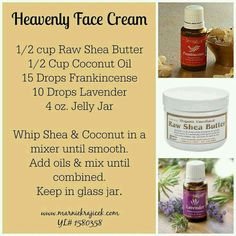 Heavenly Face Cream made with Young Living Essential Oils www.marniekrajice… Heavenly Face Cream made with Young Living Essential Oils www. Essential Oils For Face, Essential Oil Uses, Doterra Essential Oils, Young Living Essential Oils, Diy Lotion, Young Living Oils, Peeling, Homemade Beauty Products, Lush Products
