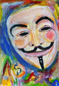 abstrakte Maske ...we are 99 %