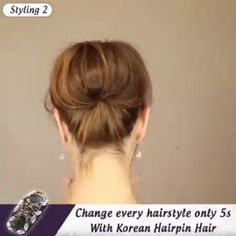 Cute Short Hair Updos, Short Hair Updo Tutorial, Short Hair Ponytail, Hair Ponytail Styles, Updos For Medium Length Hair, Short Hair Styles, Hair Dye Colors, Asian Hair, Up Hairstyles