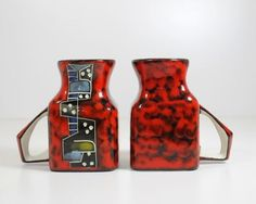 coppia TAZZINE Titano San Marino Italian Pottery Fulgenzi/Montelupo