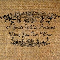 A Smile Is The Prettiest Thing You Can Wear Quote by Graphique, $1.00