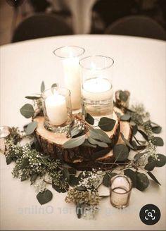 Romantic Wedding Centerpieces, Wedding Decorations, Wedding Ideas Candles, Romantic Decorations, Romantic Candles, White Candles, Decor Wedding, Table Decorations, Simple Weddings