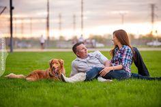 Erika and Trevor Engagement session with their dog Gunner. Photos by Liz Bradley elizabethandjane.ca