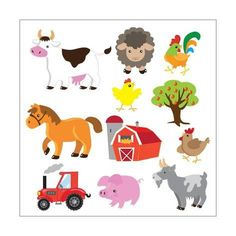 Lot Of 120 Stickers Horses Farm Animals Equipment For Scrapbooking Art Projects