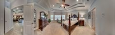 Eagle Landing Model Home: Owners Bedroom Panorama