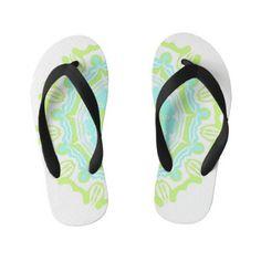 symmetrical pattern kid's flip flops Girls Flip Flops, Flipping, Keep It Cleaner, Slippers, Slip On, Unique, Pattern, Kids, Style