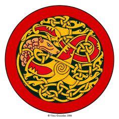 Viking Wolf by twistedstrokes on DeviantArt Viking Raven, Viking Art, Wolf Outline, Viking Knotwork, Pyrography Patterns, Norse Pagan, Nordic Tattoo, Celtic Tattoos, Celtic Symbols