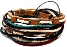 bangle leather bracelet buckle bracelet men by jewelrybraceletcuff, $8.50